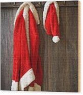 Santa's Coat Wood Print