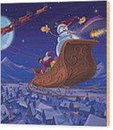 Santa's Helper Wood Print by Michael Humphries