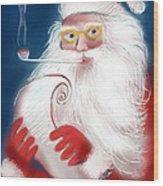 Santa's List Wood Print