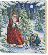 Santa's Little Helpers Wood Print