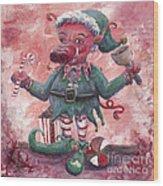 Santa's Littlest Elf Hog Wood Print