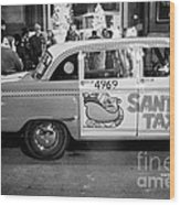 Santa's Taxi Wood Print
