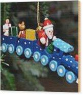 Santa's Train Delivery Wood Print