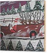 Santa's Truckload Wood Print
