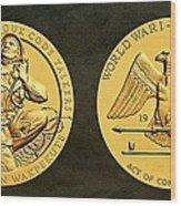 Santee Sioux Tribe Code Talkers Bronze Medal Art Wood Print