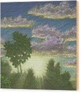Santee Sunset 01 Wood Print