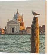 Santissimo Redentore At Sunset Wood Print