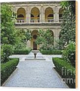 Santo Domingo Courtyard Wood Print