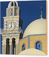 Santorini 12 Wood Print