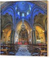 Santorini Cathedral  Wood Print
