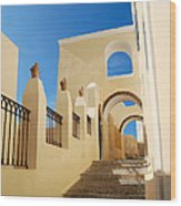 Santorini Catholic Cathedral  Wood Print