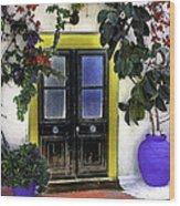 Santorini Doorway 2 Wood Print