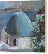 Santorini Greece Wood Print
