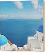 Santorini Island, Greece, Beautiful Wood Print