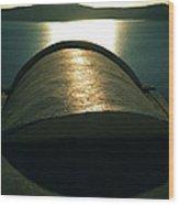 Santorini Lines By Night  Wood Print