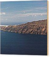 Santorini Panorama Wood Print