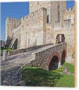 Sao Jorge Castle In Lisbon Wood Print
