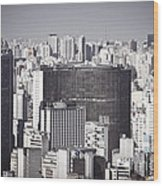 Sao Paulo - Aerial View Wood Print