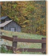 Sap Barn Or House Wood Print