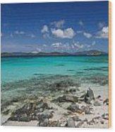 Saphire Beach Wood Print