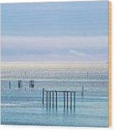 Sapphire Horizon I Wood Print