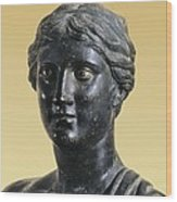 Sappho 612-545 Bc. Greek Art. Sculpture Wood Print by Everett