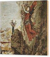 Sappho In Lefkada Wood Print