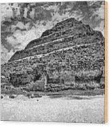 Saqqara Pyramid Wood Print by George Rossidis