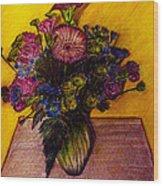 Sarah's Sweet 16 Flowers Wood Print