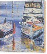 Sarasota Florida Marina Wood Print