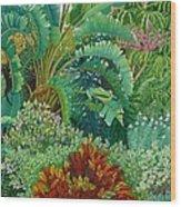 Sarasota Garden Wood Print