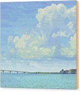 Sarasota Skyline From Sarasota Bay Wood Print