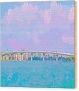 Sarasota Via Ringling Bridge Wood Print