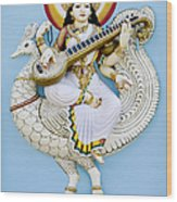 Saraswati Wood Print by Tim Gainey