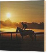 Saratoga Sunrise  Wood Print