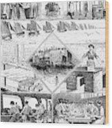 Sardine Fishery, 1880 Wood Print