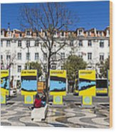 Sardine Outdoors At Rossio Square Wood Print