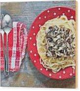 Sardines And Spaghetti Wood Print
