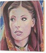 Sardinian Lady Wood Print by Andrei Attila Mezei