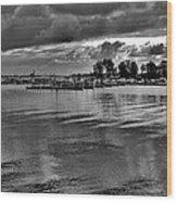 Sarnia Harbour B And W - Canada Wood Print
