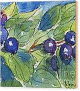 Saskatoon Berries Wood Print