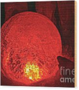 Satan's Crystal Ball Wood Print
