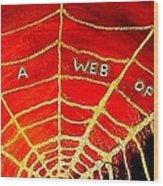 Satan's Web Wood Print