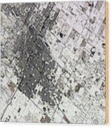 Satellite View Of Amarillo, Texas Wood Print