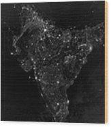 Satellite View Of City, Village Wood Print