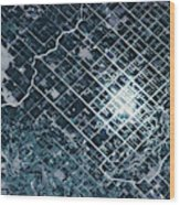Satellite View Of Fields In Sonora Wood Print