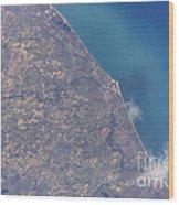 Satellite View Of St. Joseph Area Wood Print by Stocktrek Images