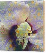 Satin Flower Fractal Kaleidoscope Wood Print