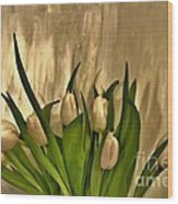 Satin Soft Tulips Wood Print