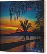 Saturated Mexican Sunset Wood Print